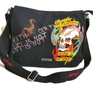 Ed Hardy Tattoo Weekend Messenger Crossbody bag